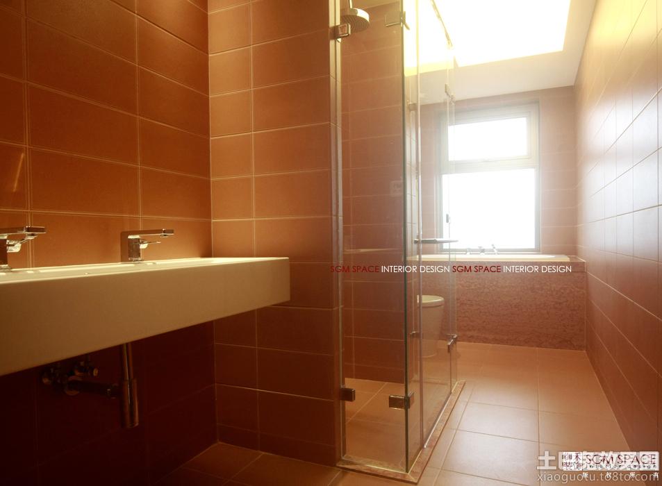 现代卫生间瓷砖装修效果图片
