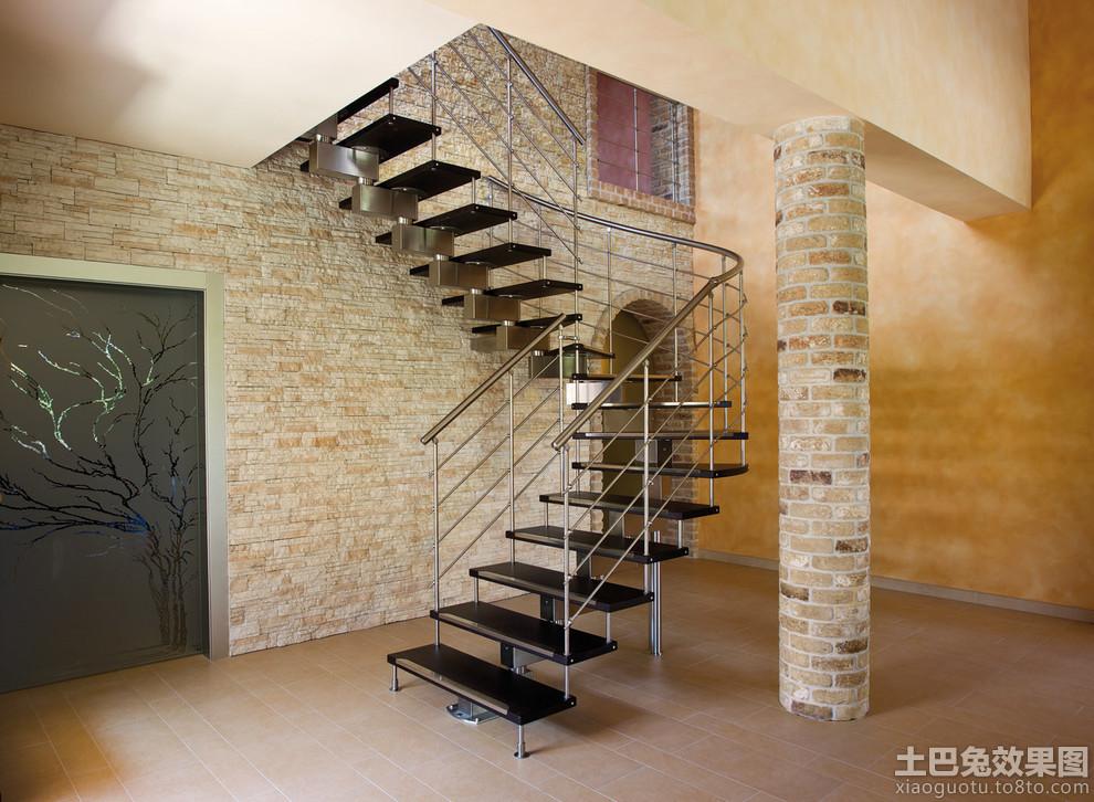 别墅室内钢结构楼梯图集