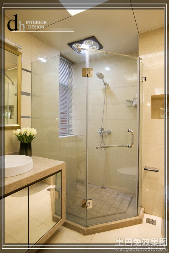小型卫生间淋浴房装修效果图高清图片