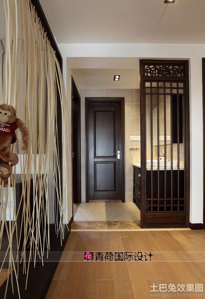 现代中式卫生间隔断效果图 - 装修效果图 - 九正家居网图片