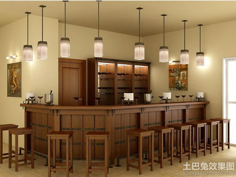 美式酒吧吧台设计图片