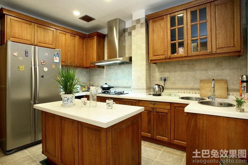 美式风格别墅厨房橱柜装修效果图图片