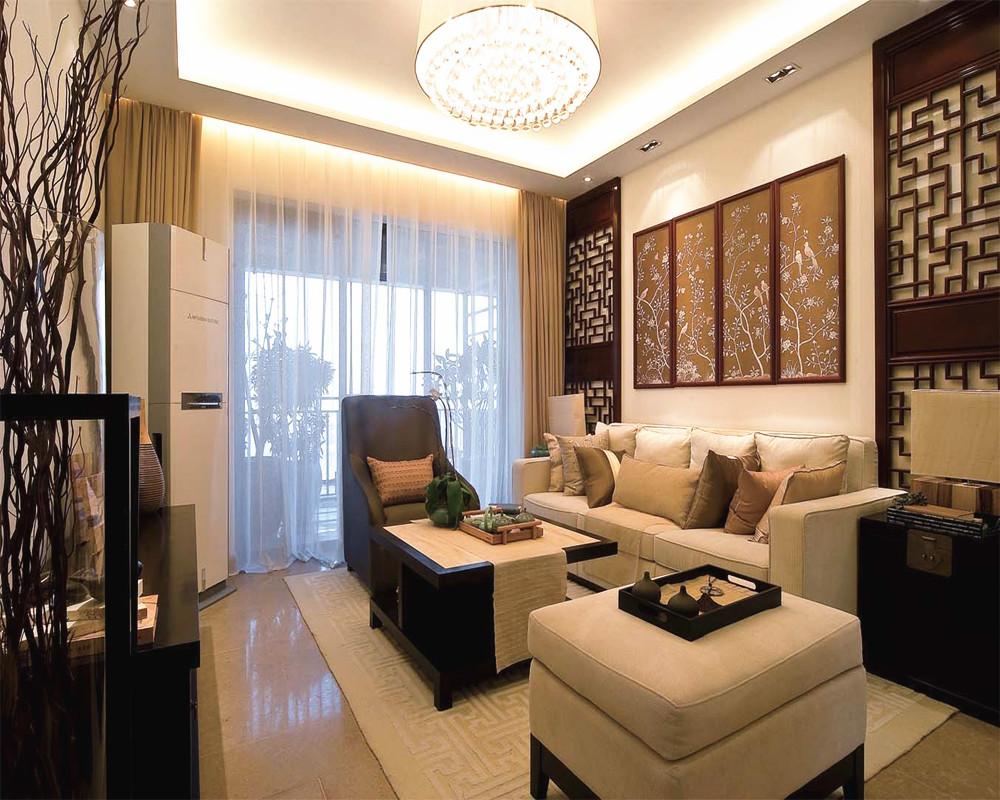 新中式风格50平米小户型客厅装修效果图