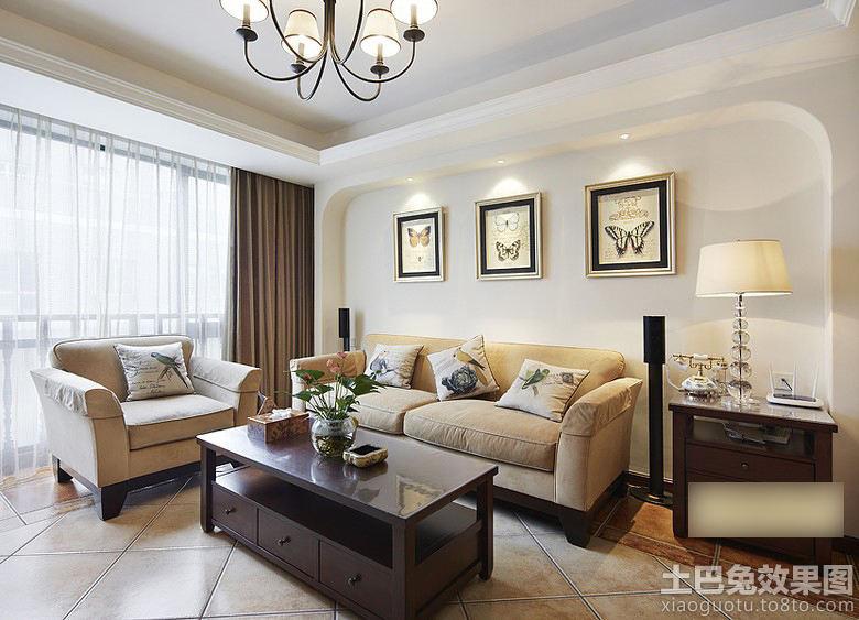 简美式客厅装修效果图大全高清图片