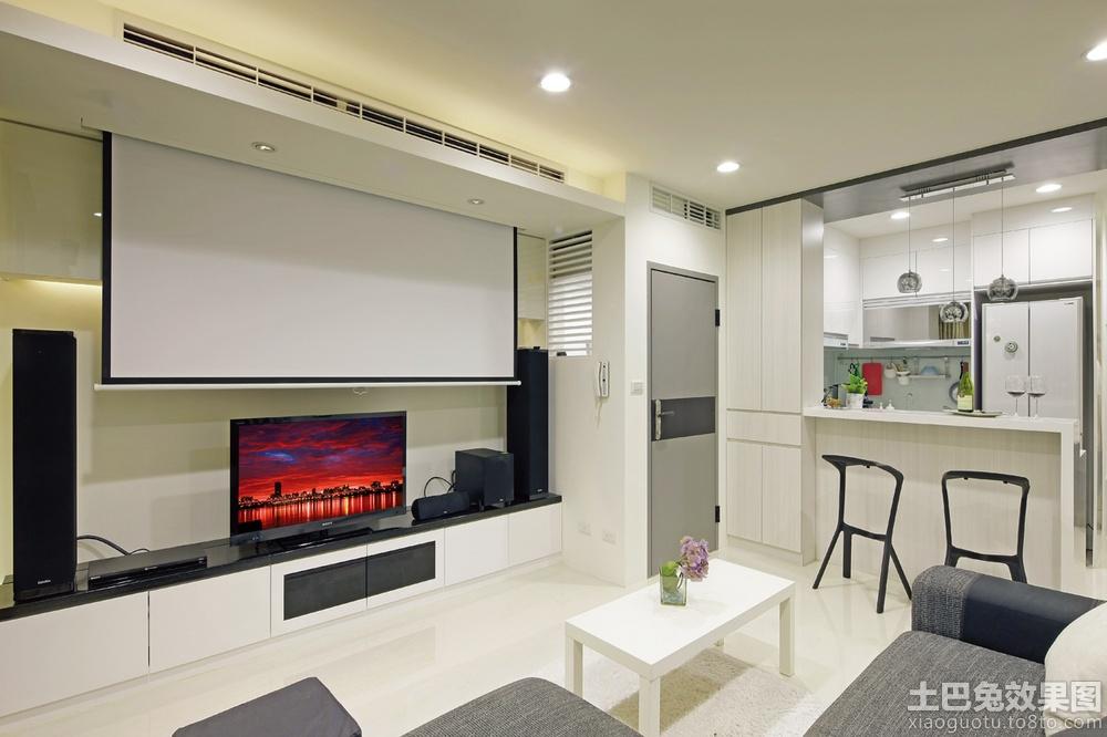 影视墙家庭影院装修效果图高清图片