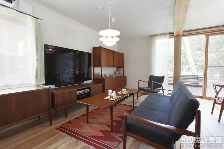 简美式客厅装修效果图高清图片