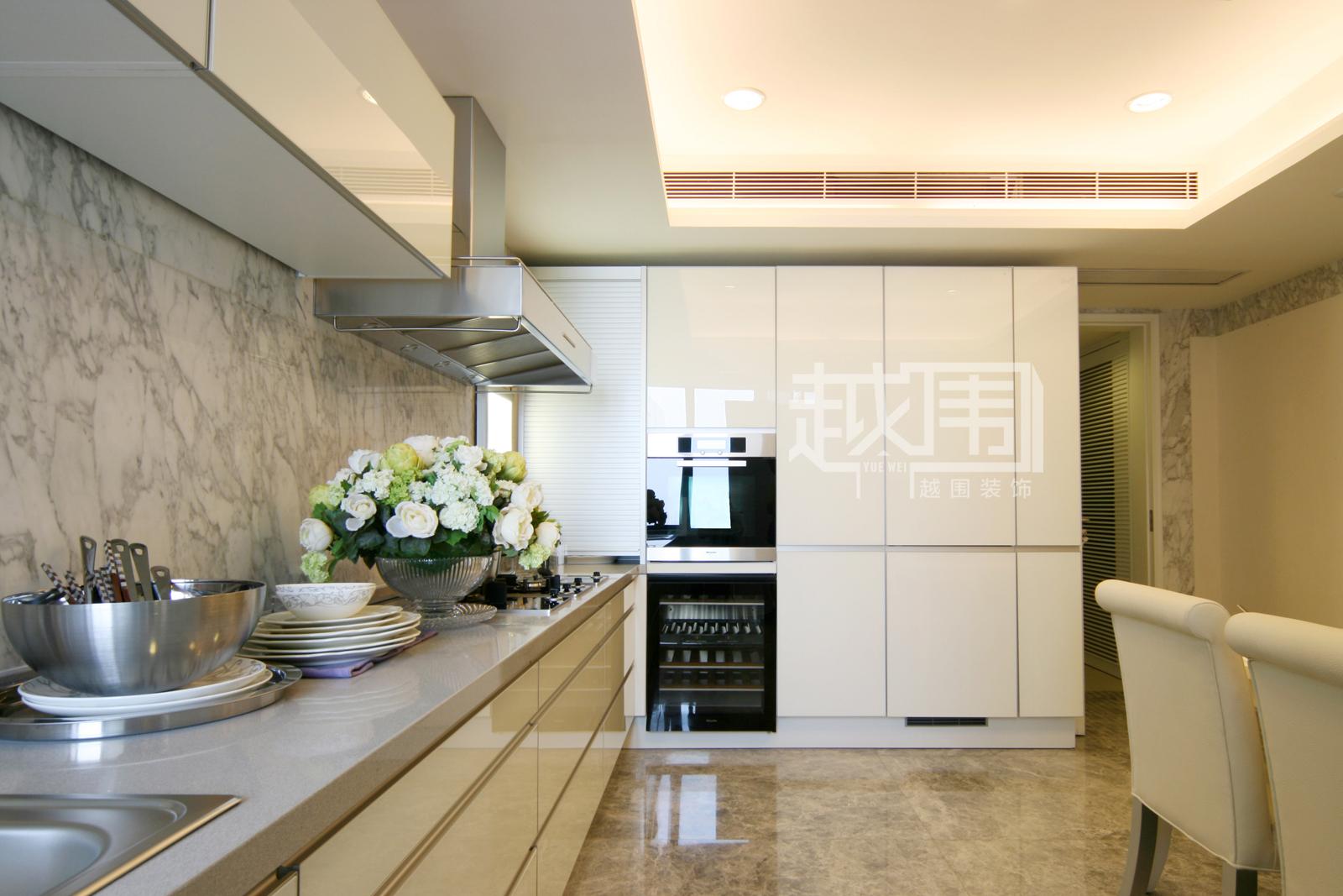 欧式风格大厨房装修效果图