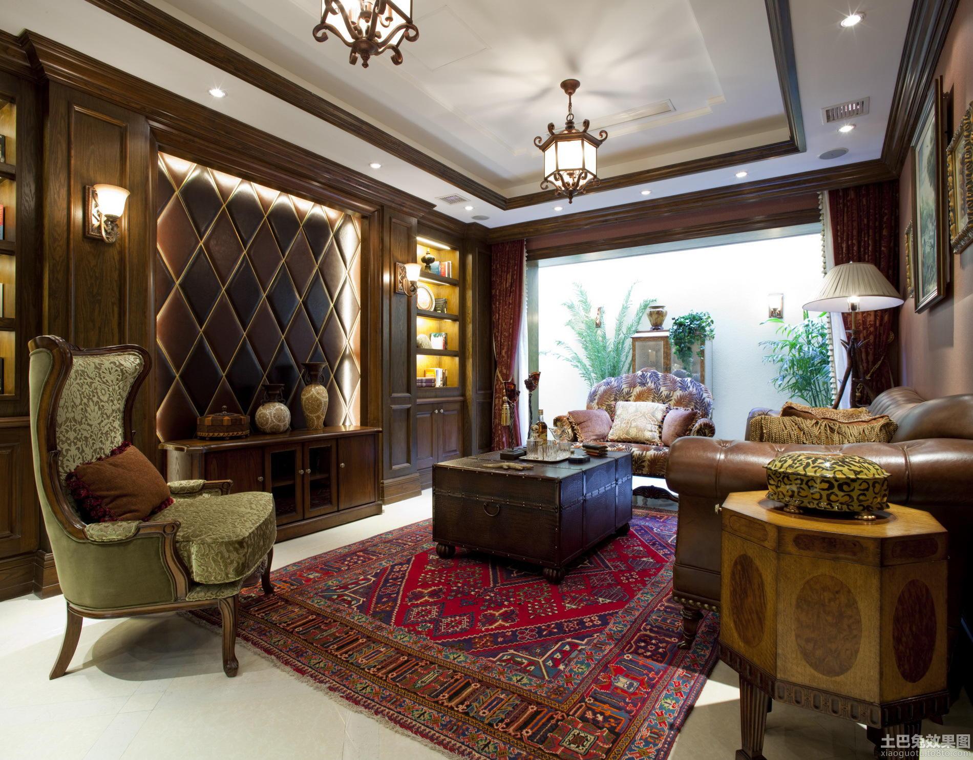 家装客厅软包电视背景墙效果图
