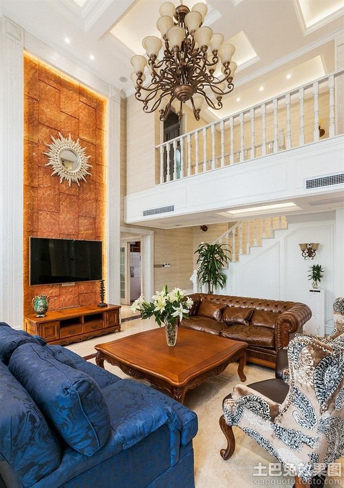 豪华欧式别墅客厅电视背景墙效果图 - 装修效果图