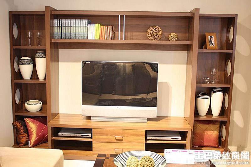 家装实木电视柜效果图大全图片