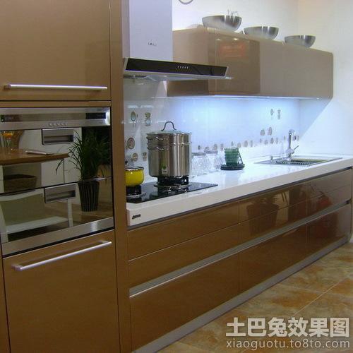 一字型厨房烤漆橱柜效果图