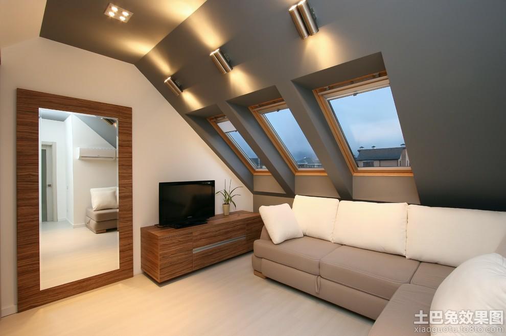 简约斜顶阁楼装修设计
