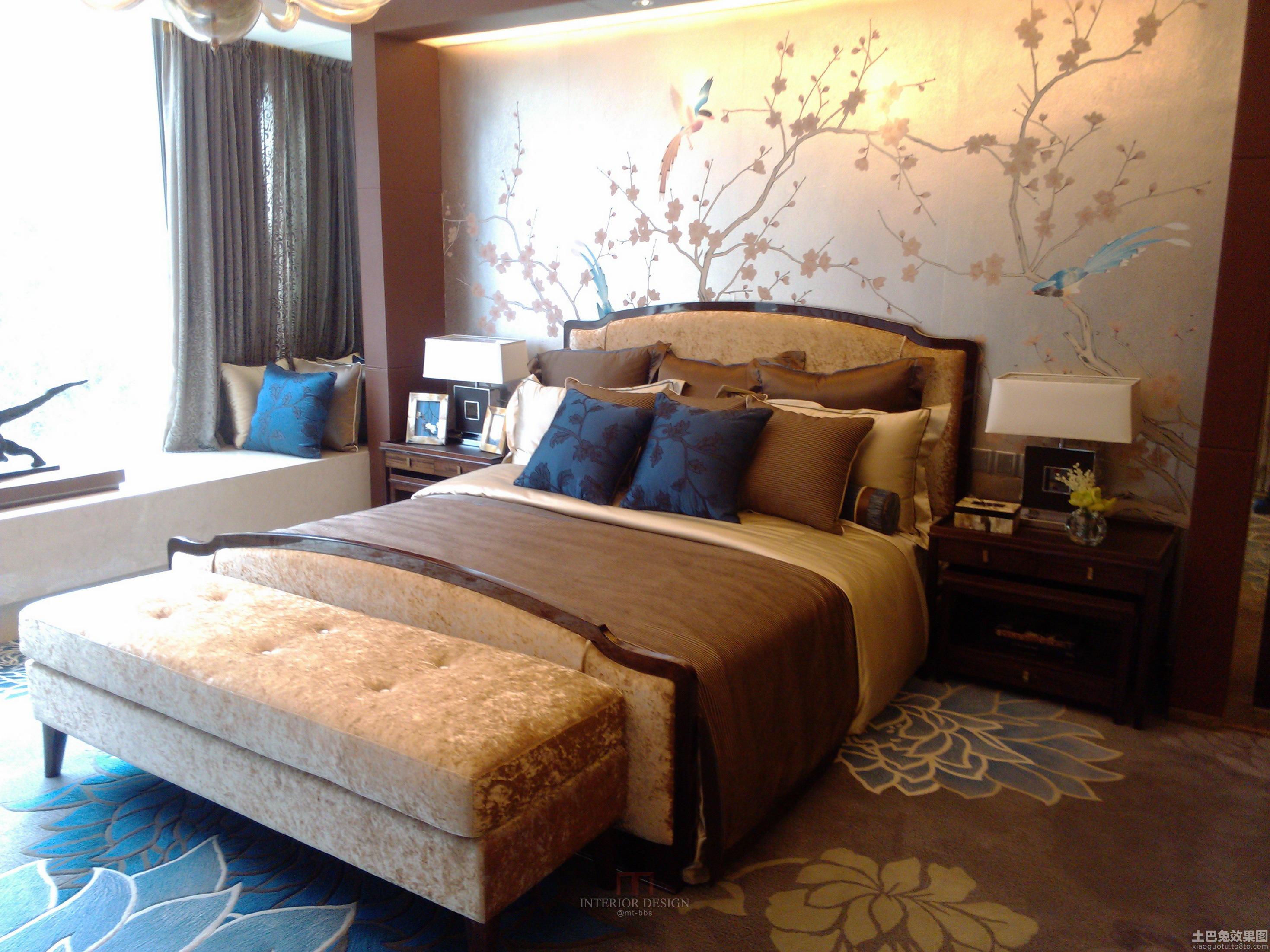2014卧室床头背景墙装饰效果图