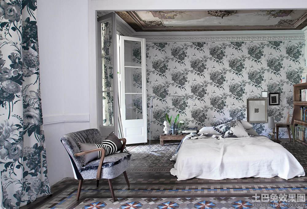 北欧风格卧室墙纸图片大全 - 装修效果图 - 九正家居网