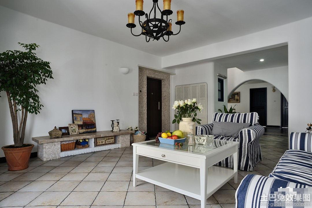 地中海风格客厅电视墙效果图