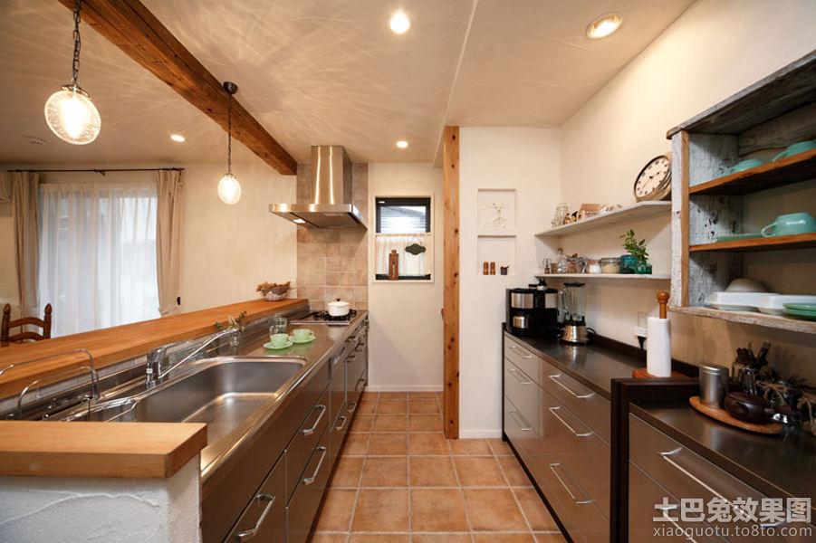 家庭不锈钢厨房台面效果图高清图片