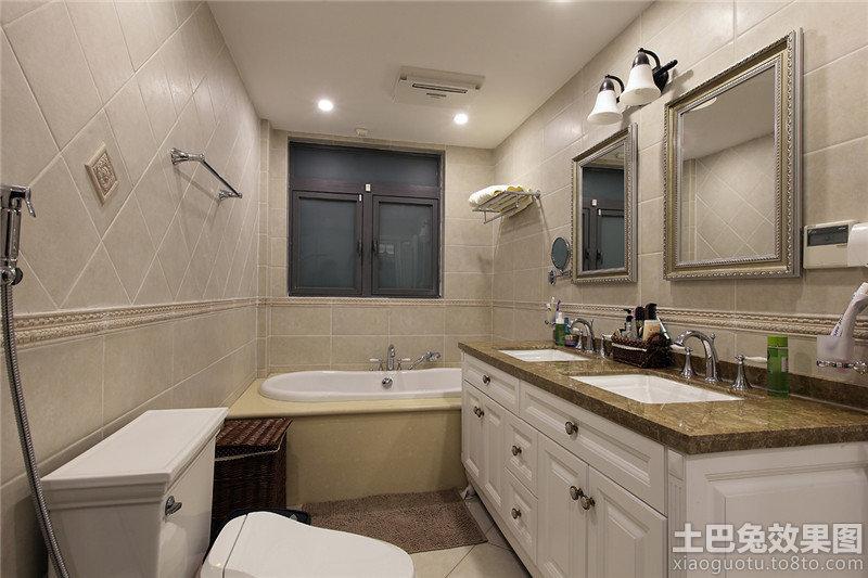 欧式卫浴间装修效果图欣赏