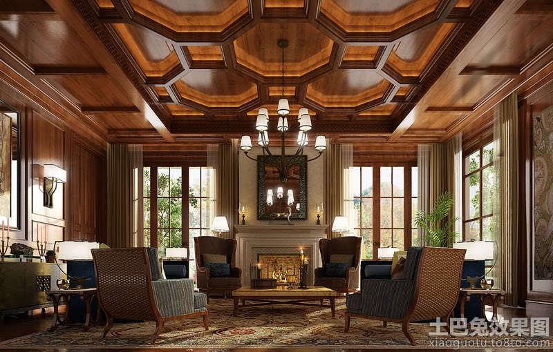 木别墅室内图