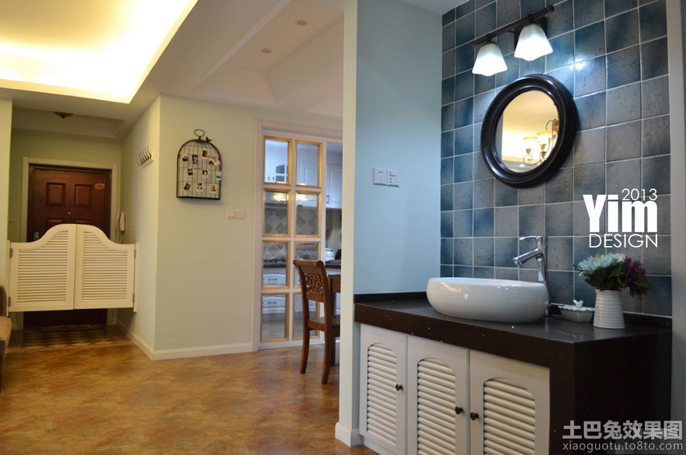开放式洗手间效果图 - 装修效果图 - 九正家居网图片