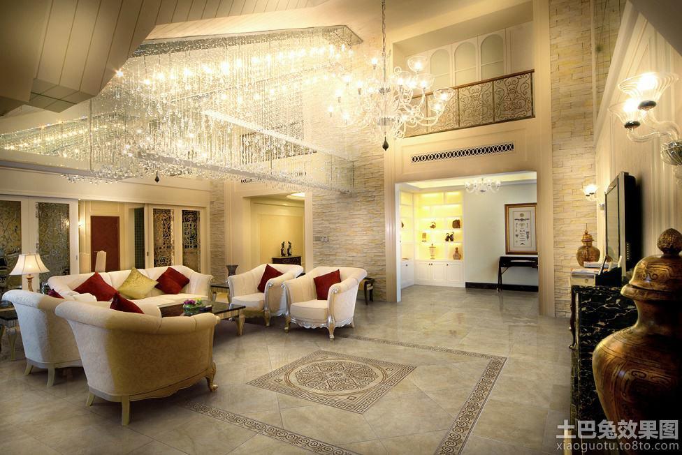 别墅客厅地板砖效果图别墅jin客厅图片1