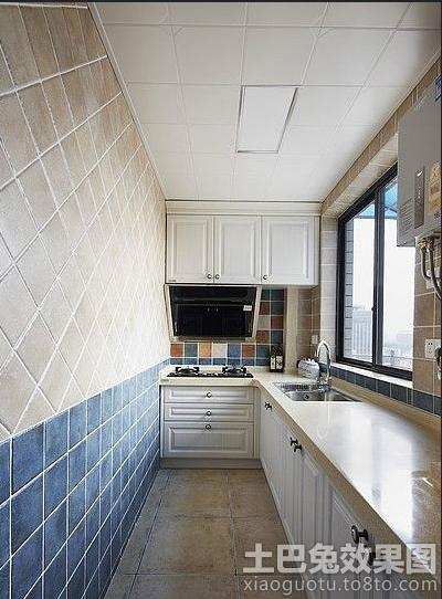 地中海风格厨房墙砖效果图大全