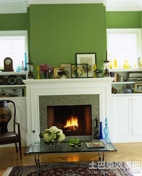 绿色家居室内墙面漆效果图高清图片