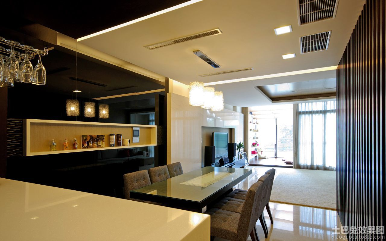 现代家庭餐厅效果图 - 装修效果图 - 九正家居网