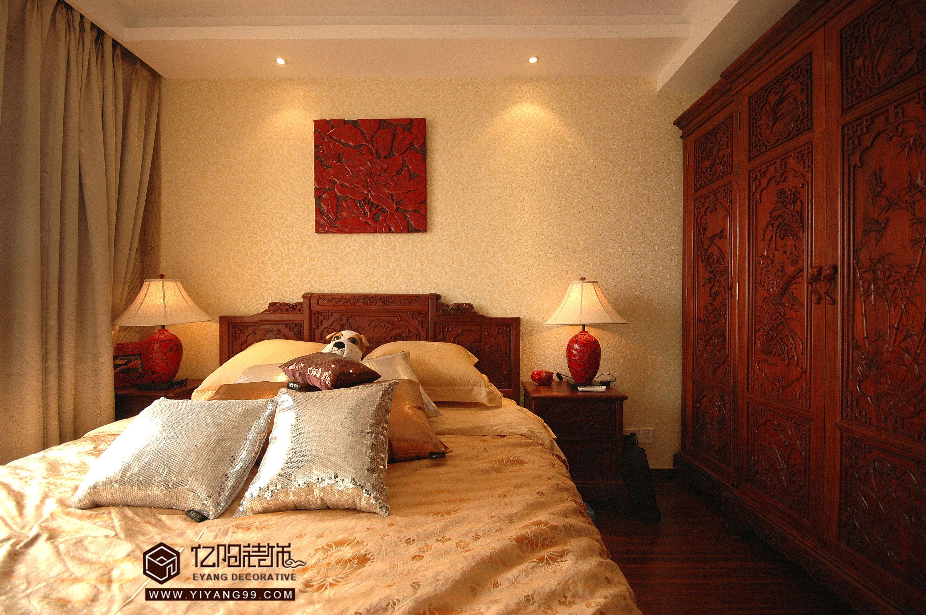 中式风格卧室装修效果图大全图片