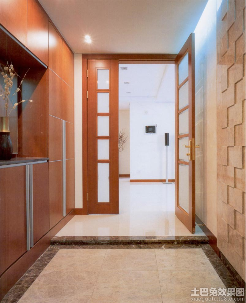 中式家居玄关设计 - 装修效果图