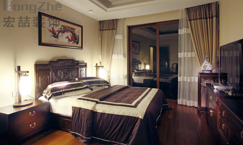中式风格主卧室装修效果图大全