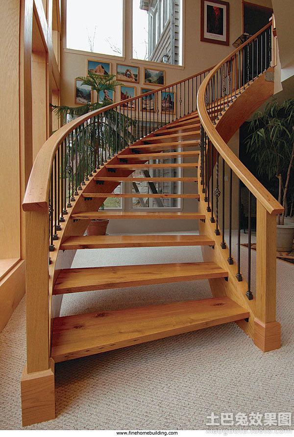 室内实木楼梯图片图片