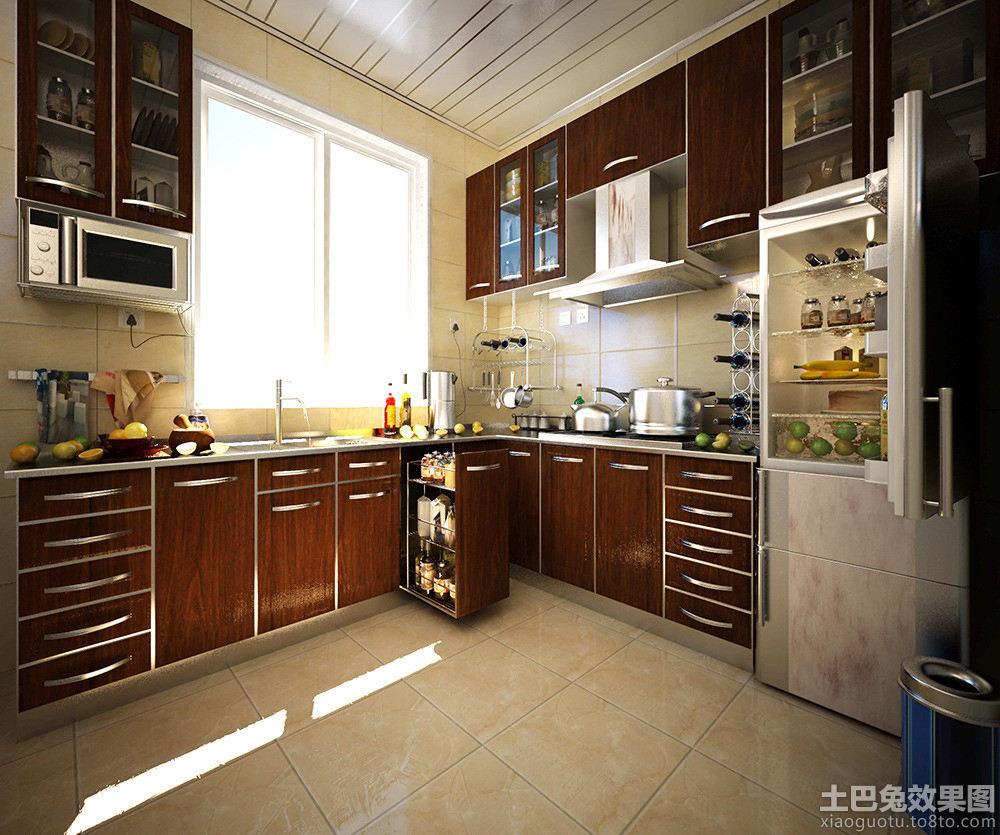 美式整体橱柜厨房效果图 - 装修效果图 - 九正家居网图片