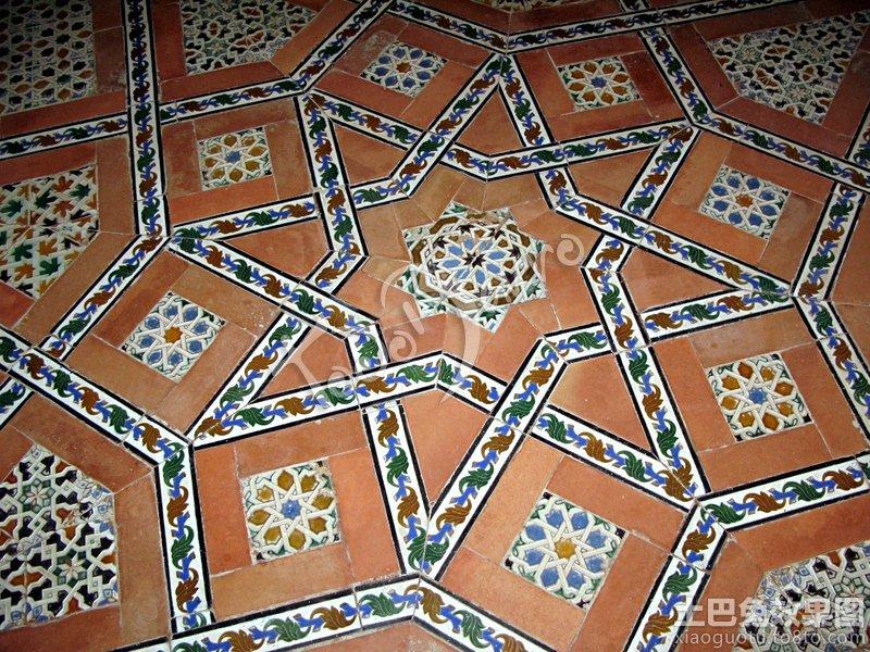 创意地板砖花纹贴图