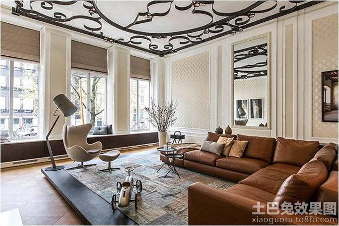 欧式客厅转角沙发效果图