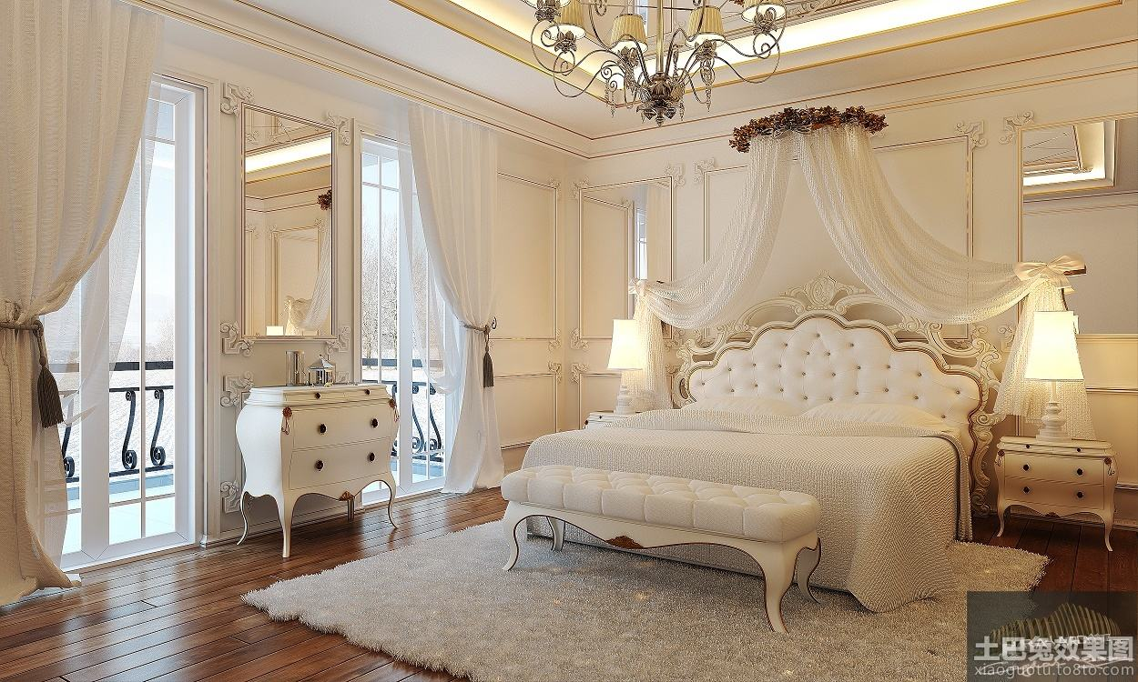 大欧式公主房装修图片 - 九正家居装修效果图