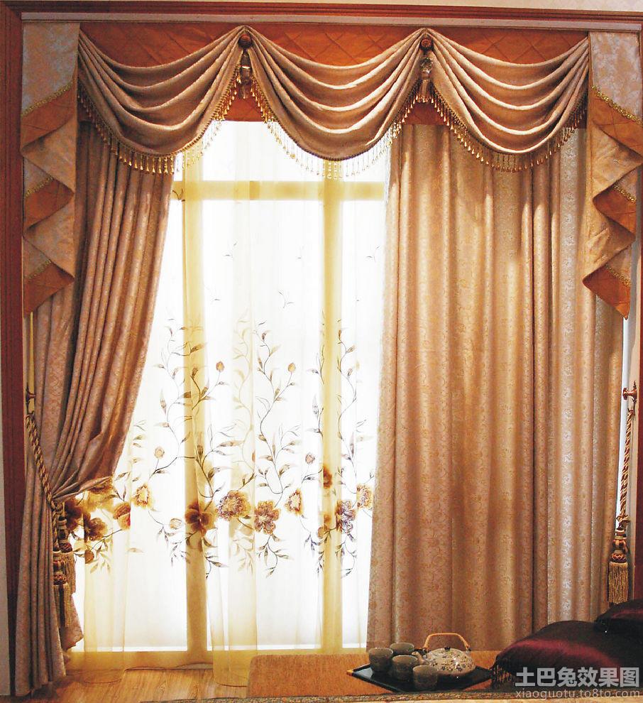 欧式窗帘图片