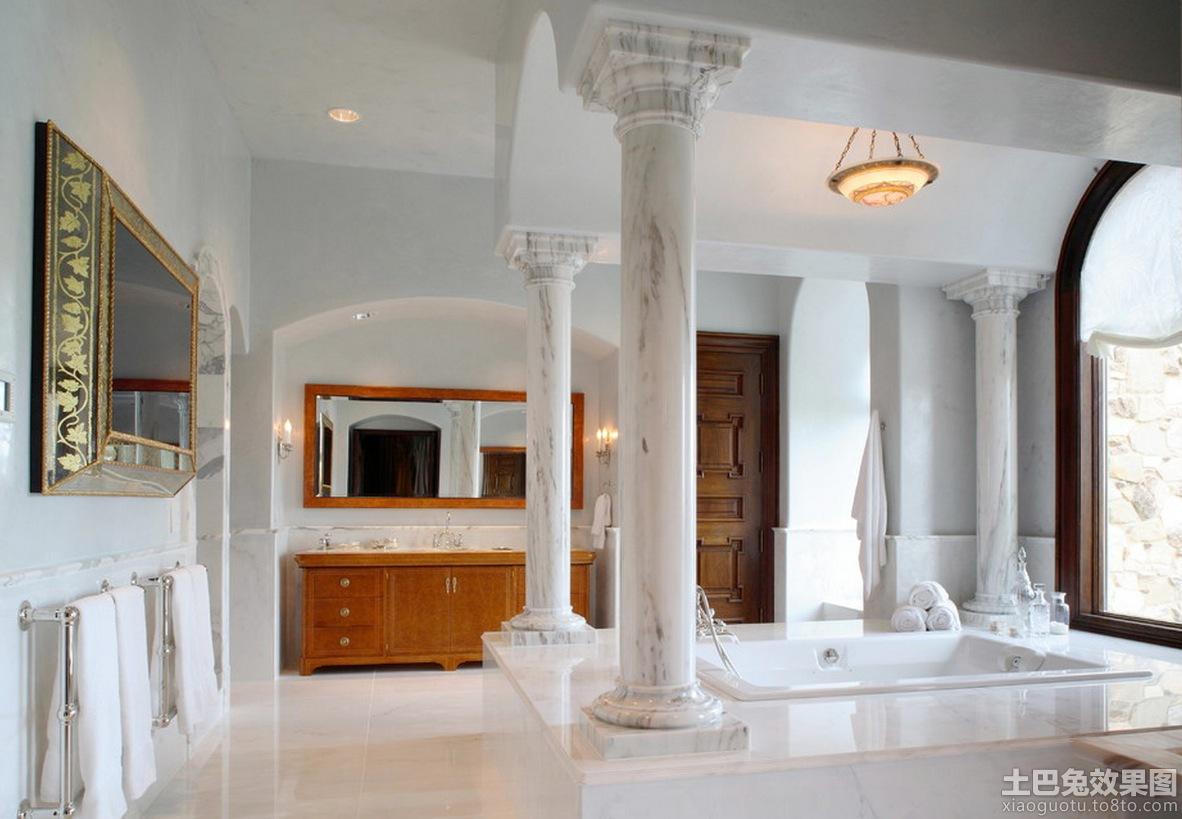 欧式装修客厅柱子图片 - 装修效果图 - 九正家居网图片