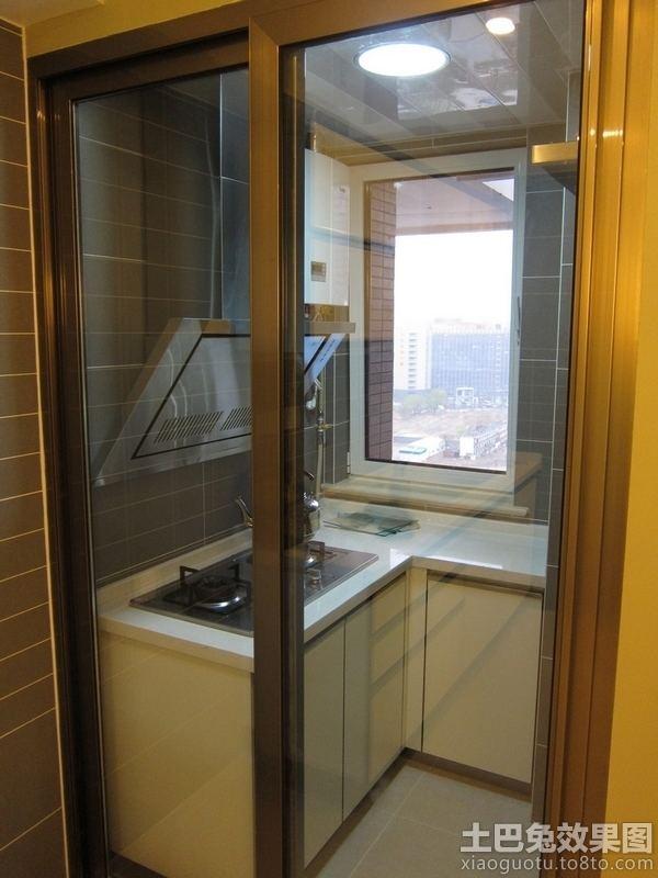 厨房单门推拉门设计图片 - 九正家居装修效果图