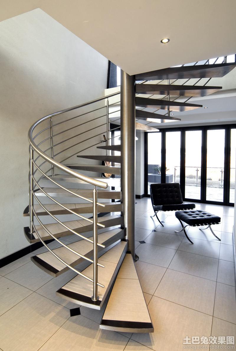 现代复式楼旋转楼梯图片 - 装修效果图 - 九正家居网图片