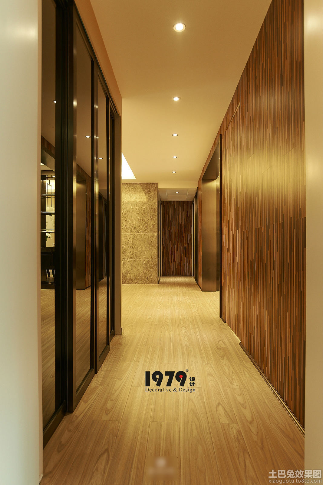 现代装修风格室内木地板装修