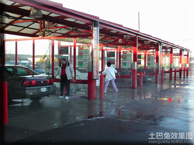 洗车店装修效果图高清图片
