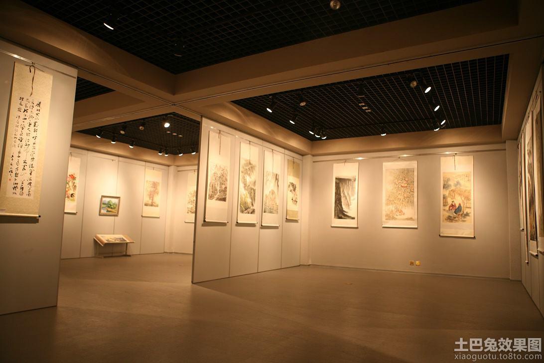 书画展厅设计效果图欣赏图片