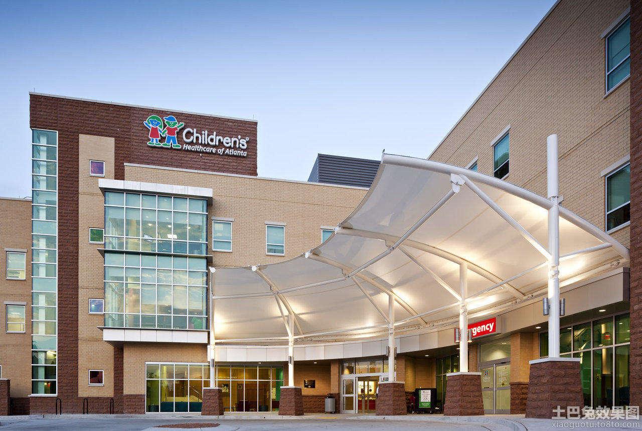 医院门头设计效果图高清图片