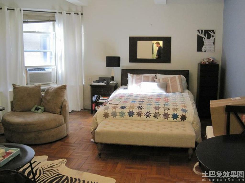 现代单身公寓卧室设计图片
