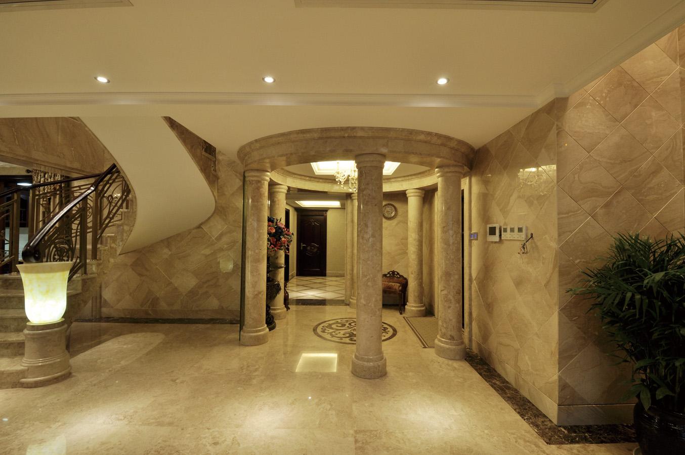 欧式古典家居风格室内过道装修图片