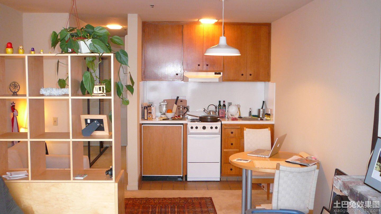 小公寓家装深色橱柜装修效果图