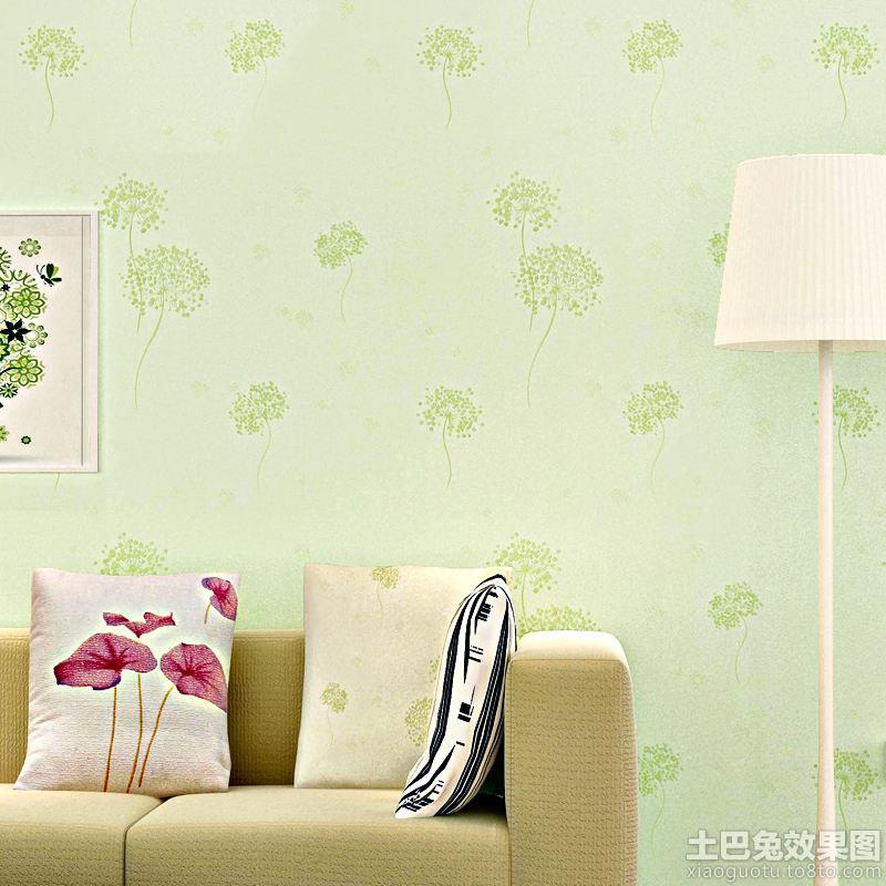 绿色客厅环保壁纸图片