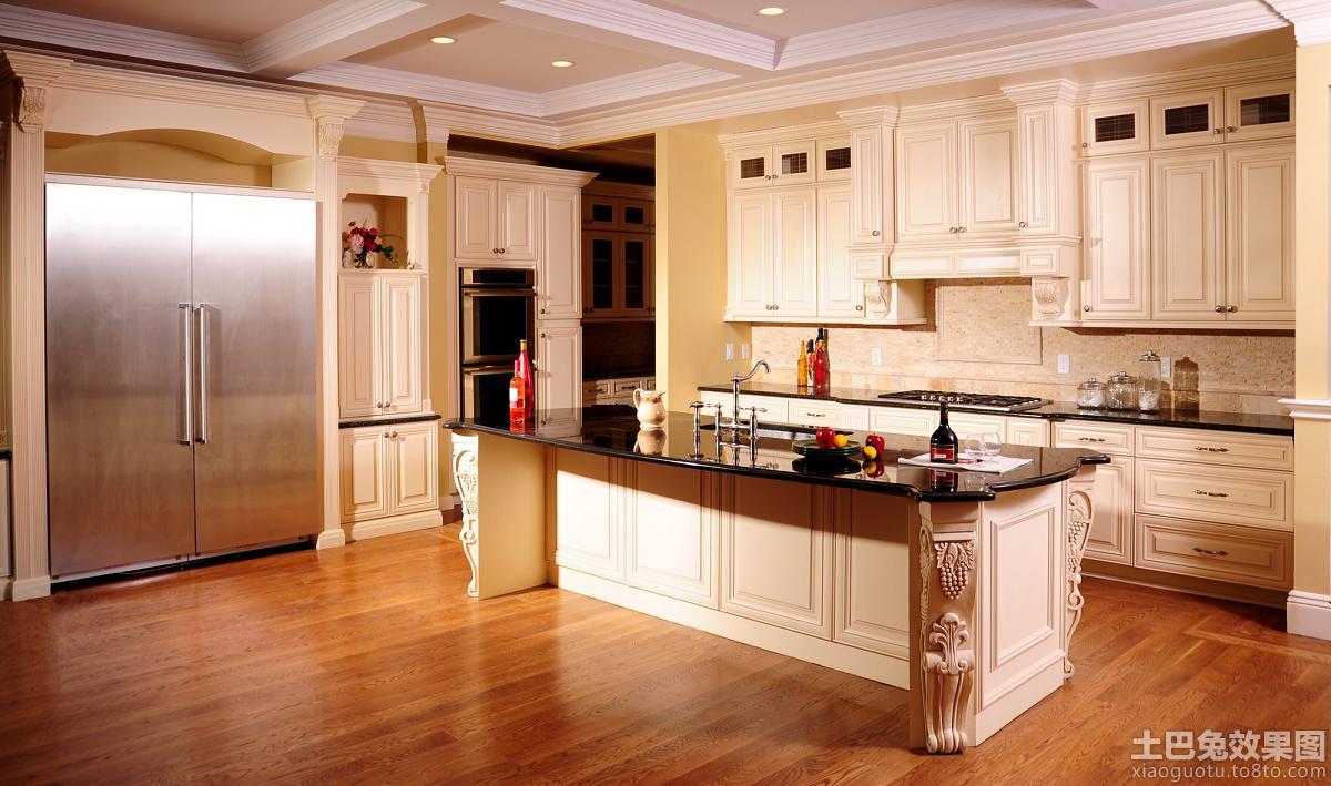 欧式豪华厨房橱柜图片
