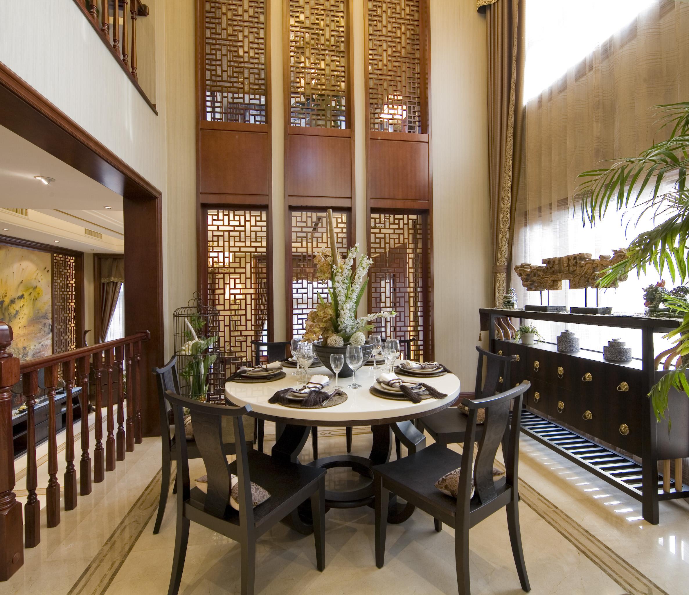 中式风格豪华餐厅设计 - 装修效果图 - 九正家居网图片