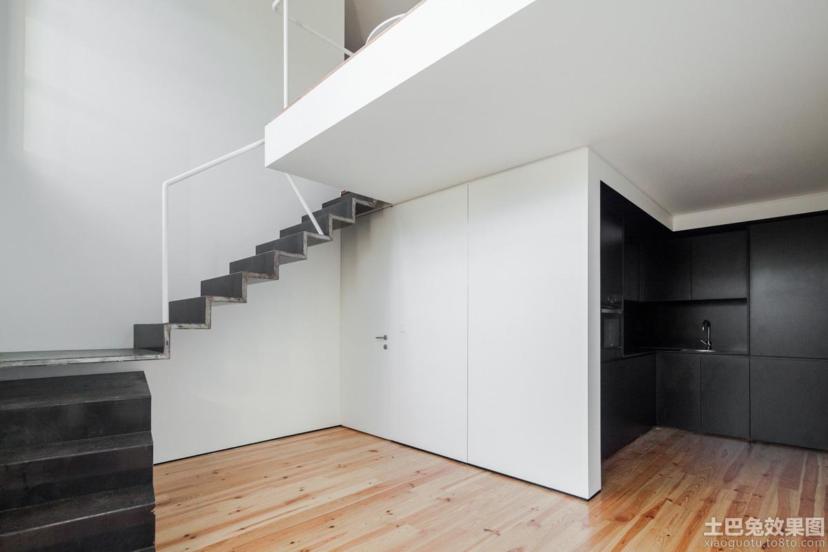 极简主义室内楼梯设计效果图 - 装修效果图 - 九正